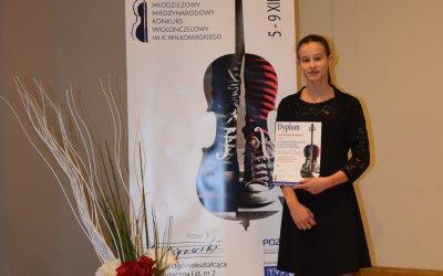 II WYRÓŻNIENIE dla Amelii na XIV Młodzieżowym Międzynarodowym Konkursie Wiolonczelowym