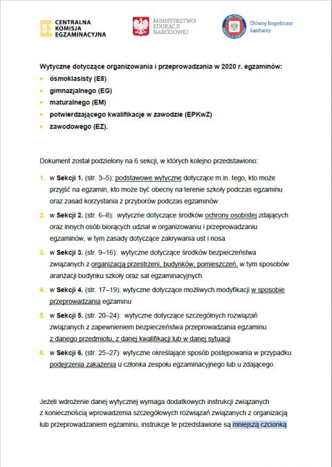 Ósmoklasisto – ważne informacje!
