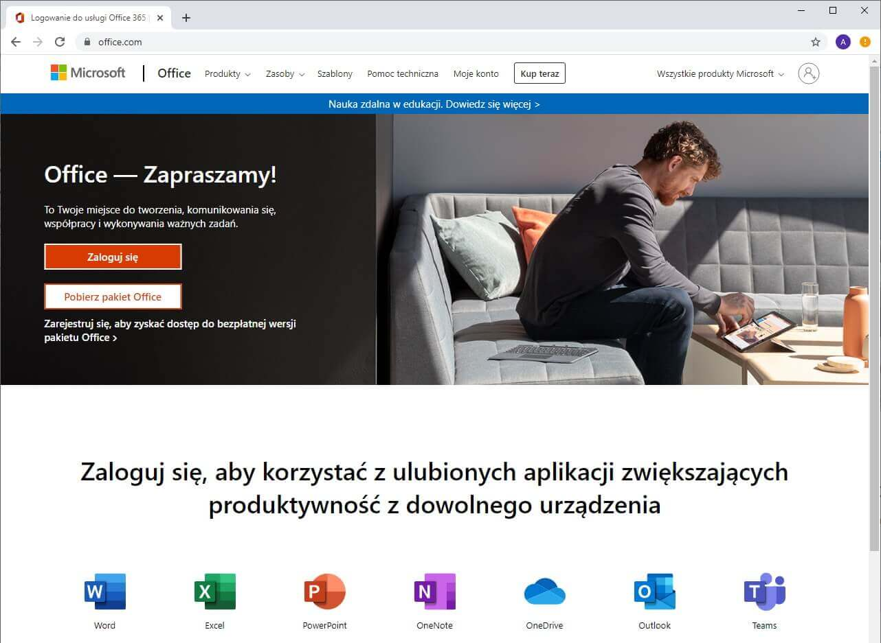 Strona Office - Zapraszamy